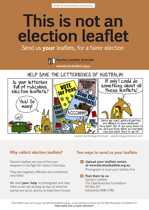 This is not an election leaflet